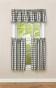Curtains With Matching Valances Checkerboard Star Lined Curtain Tiers 72