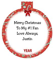 justin bieber personalized ornament 4 any name message