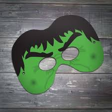 hulk mask party printables