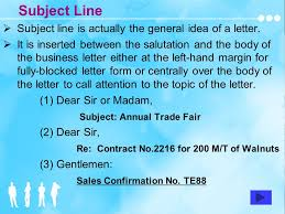 letter with attention line and subject line business english correspondence 2 rd edition unit one basics of