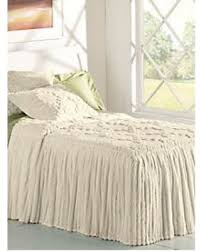 Skirted Coverlet Black Friday Special Drop Ruffle Chenille Bedspread By