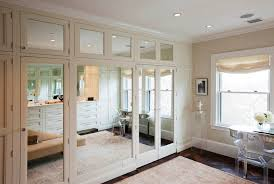 Mirrored Bifold Doors For Closets Mirrored Closet Doors Contemporary Closet Closette