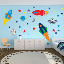 Cheap Wall Decals For Nursery Motivational Wall Decals For Bedrooms Childrens Space Rocket