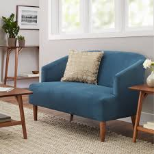 contemporary mid century modern loveseat for living room design