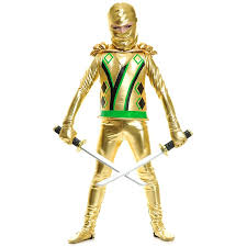 spirit halloween little rock amazon com big boys u0027 gold ninja avengers series iii costume toys
