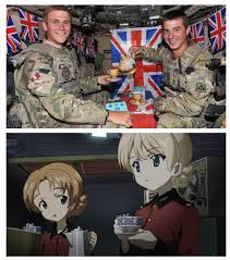 Girls Und Panzer Meme - muffled god save the queen in the distance meme girls and anime