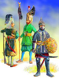 Ottoman Janissary An Ottoman Sipahi Cavalryman On The Right And Two Janissaries