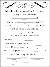 wedding mad libs template a site of wedding mad libs for your guests ask them to fill