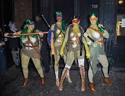 halloween costume fbi agent rihanna dresses as teenage mutant ninja turtle for halloween