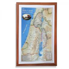 Map Book The Holy Land In The Time Of Jesus Topographical Map Books My