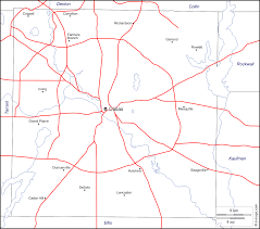 Dallas County Map by Dallas County Free Map Free Blank Map Free Outline Map Free