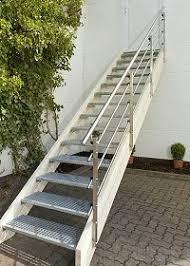 stahl holz treppe außentreppe bausatz aussen treppen holzkomplett de