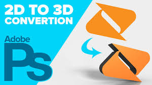 how to convert a 2d logo to 3d in adobe photoshop youtube