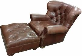 Vintage Brown Leather Chair Vintage Ralph Lauren Leather Chair With Ottoman Chairish
