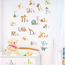 Alphabet Wall Decals For Nursery Nursery Room Ideas Nursery Wall Decals