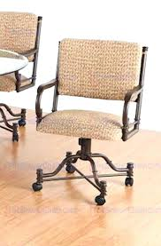dining room chairs with rollers dining chairs chromcraft caster dining chairs padded rolling