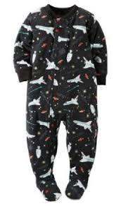s black outer space rockets fleece sleeper pajamas toddler