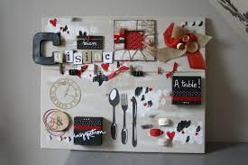 tableau theme cuisine decoration cuisine couleur framboise