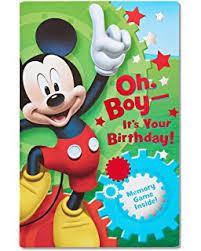 Mickey Mouse 1st Birthday Card Amazon Com Mickey Mouse 1st Birthday Card Office Products
