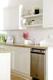 Shelf Above Kitchen Sink by Open Shelving Above Sink To Add Brightness Where There Is No