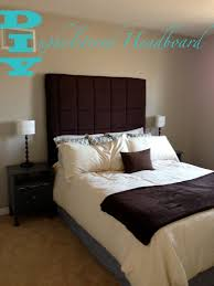 Cushioned Headboards For Beds by Bedroom Tall Upholstered Headboards In Brown Matched With White