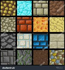 ground textures collection sixteen seamless pixel ground textures stock vector