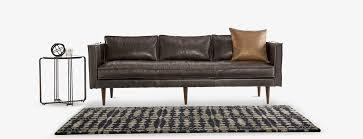 Brompton Leather Sofa Serena Leather Sofa Joybird