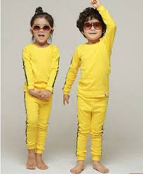 bruce yellow jumpsuit baby pajamas children sleepwear and boys infant sleeve
