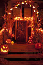 halloween porch lights and decorations pictures photos and