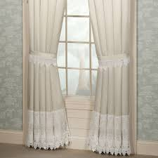 trousseau lace curtains trousseau lace tailored curtain pair