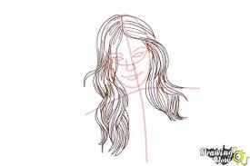 how to draw a with long hair and highlights drawingnow