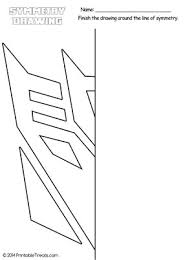 transformers decepticon symmetry drawing worksheet from