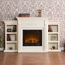 Fireplace With Music by Southern Enterprises Tennyson Ivory Electric Fireplace With
