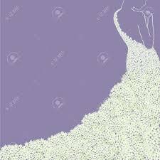 bridal gown art purple invitation card background stock u images
