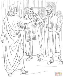 jesus heals a man with a withered hand coloring page free