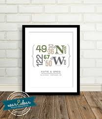 Gifts For Homeowners Modern Housewarming Gift Personalized Latitude And Longitude