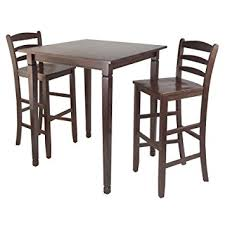 High Chair Dining Room Set Amazon Com Winsome Kingsgate High Pub Dining Table With Ladder