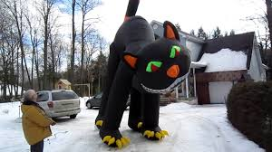 halloween inflateables inflatable 20 ft halloween cat youtube