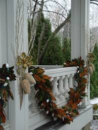 Outdoor Garland With Lights by Magnolia Leaf Garland With Large White Lights Christmas Outdoor