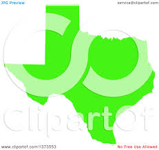State Of Texas Map Clipart Of A Lyme Disease Awareness Lime Green Colored Silhouetted