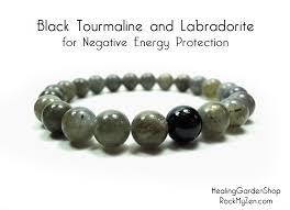 energy bead bracelet images Unisex black tourmaline and labradorite for negative energy jpg