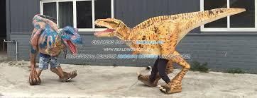 velociraptor costume walking dinosaur costume realistic dinosaur cosutme