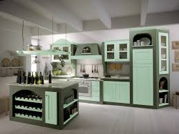 kitchen with white cabinetry tiles concrete floors wood ceiling