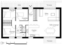 plan maison 3 chambre plain pied plan maison individuelle 3 chambres 102 habitat concept de plain