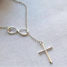 cross necklace fine jewelry images Silver cross necklace christian infinity chain pendant gratis jpg