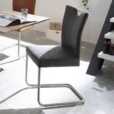 Esszimmer Set Ebay Schwingstuhl Leya 4er Set Stuhl Freischwinger In Microfaser Braun