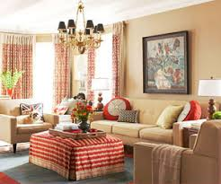 Orange Curtains For Living Room Living Room Color Schemes