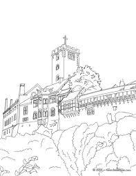 wartburg castle coloring pages hellokids com