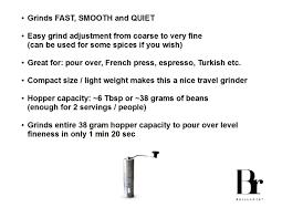 amazon com brillante manual coffee grinder superior burr design