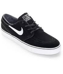 nike sb zoom stefan janoski og black white skate shoes zumiez